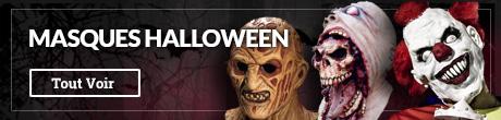 Masques Halloween en latex et très réalistes, masques de films d'horreur, masques de clown, Michael Myers, Saw...
