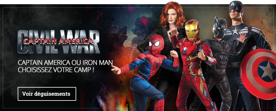 Déguisements Captain America Civil War