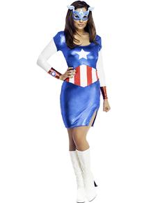 Costume de spider girl classic acheter en ligne sur funidelia - Captain america fille ...