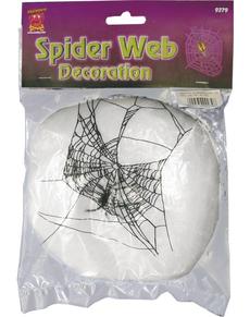 Décoration de fils de toiles d'araignée blanc