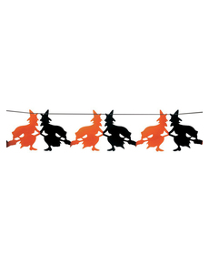 Guirlande fantaisie sorcières Halloween 23 x 300 cm