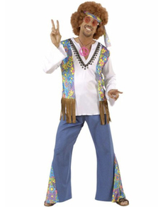 Déguisement hippie Woodstock Festival homme