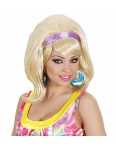Perruque blonde mouvement Mod année 60