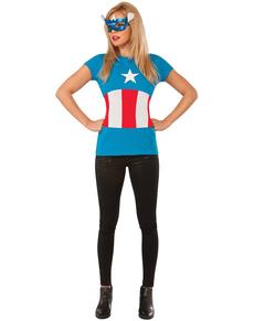 Kit Costume American Dream Classic Marvel  femme