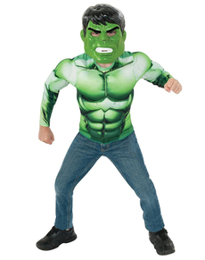 Kit costume de Hulk musclé garçon