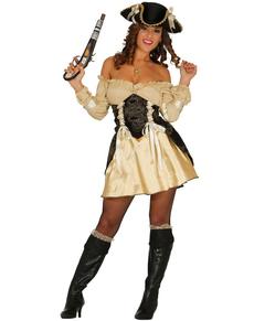 Déguisement pirate doré femme