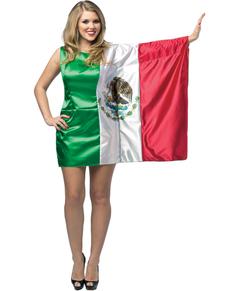 Déguisement drapeau Mexique femme
