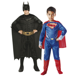 Costumes Batman et Superman enfant