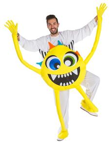 Déguisement monstre jaune adulte