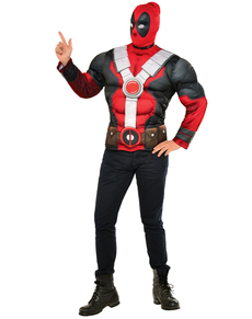Kit Costume Deadpool musclé homme