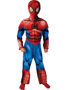 Déguisement Ultimate Spiderman deluxe musclé enfant