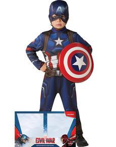 Costume de Captain America Civil War avec bouclier pour garçon (boîte-vitrine)