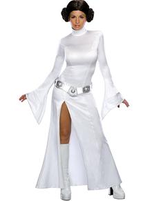 Costume blanc de princesse Leia sexy
